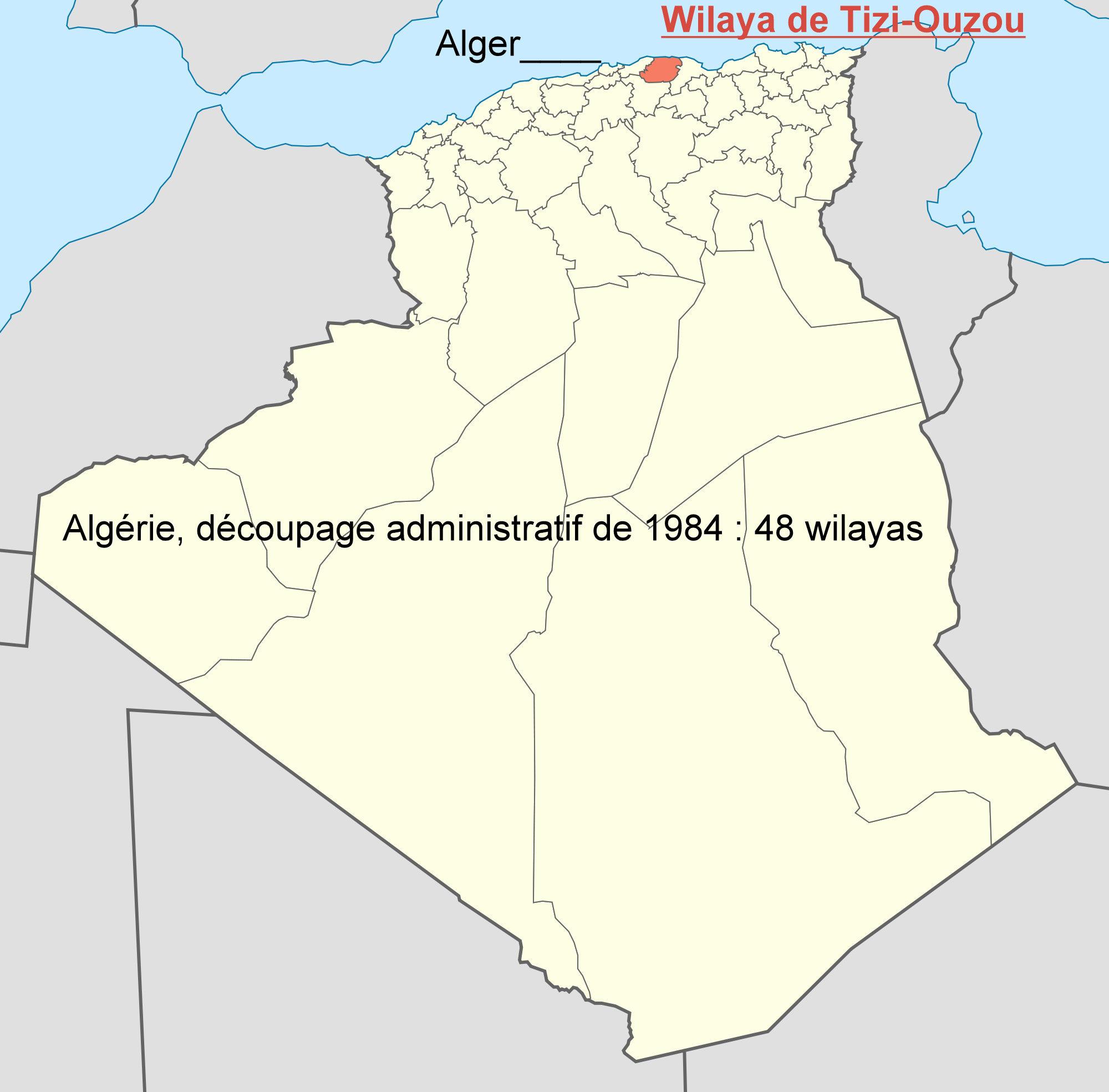 Carte Algerie Tizi Ouzou.Cartes De La Wilaya De Tizi Ouzou